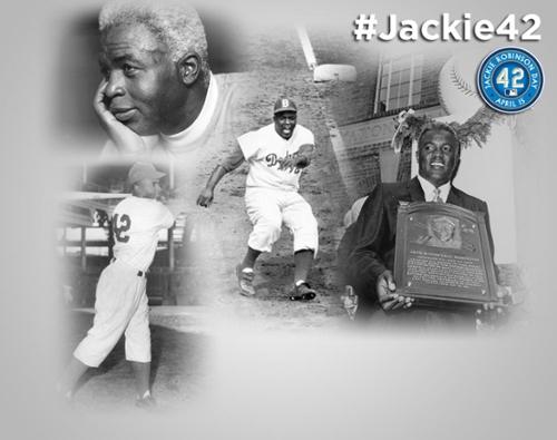 MLB Jackie Robinson Day Slide Logo