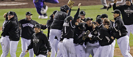 Image result for rockies win pennant