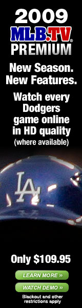 2009 MLB.TV Premium. Watch every Dodgers game online in HD quality