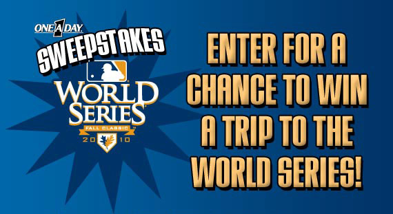 Enter for a Chance to Win a Trip to the World Series!