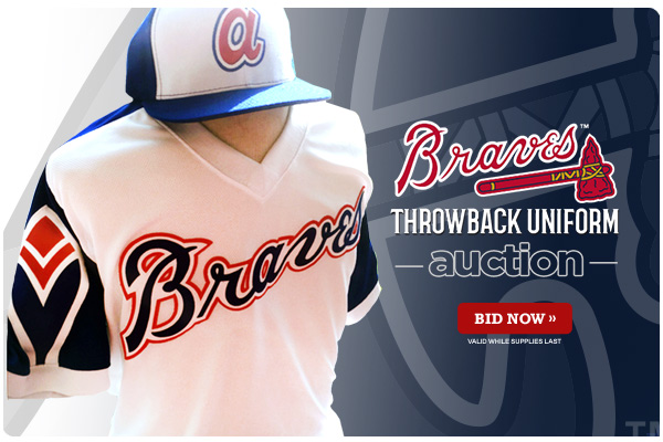 arrives 64af7 02c41 Braves Throwback Uniform Auction | Say Hello To Baseball
