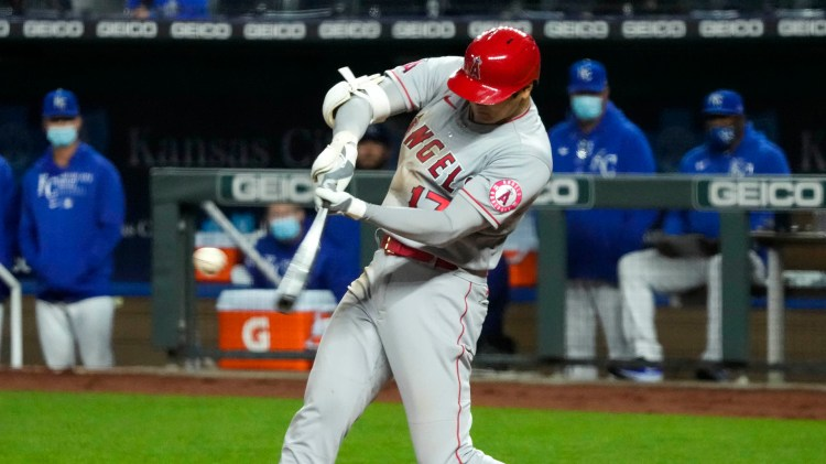 Shohei Ohtani's 3 RBIs, Trout's HR lead Angels over Royals ...
