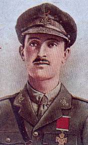 Second Lieutenant Bell (portrayed in a series of Gallagher cigarette cards honouring WWI VC winners)