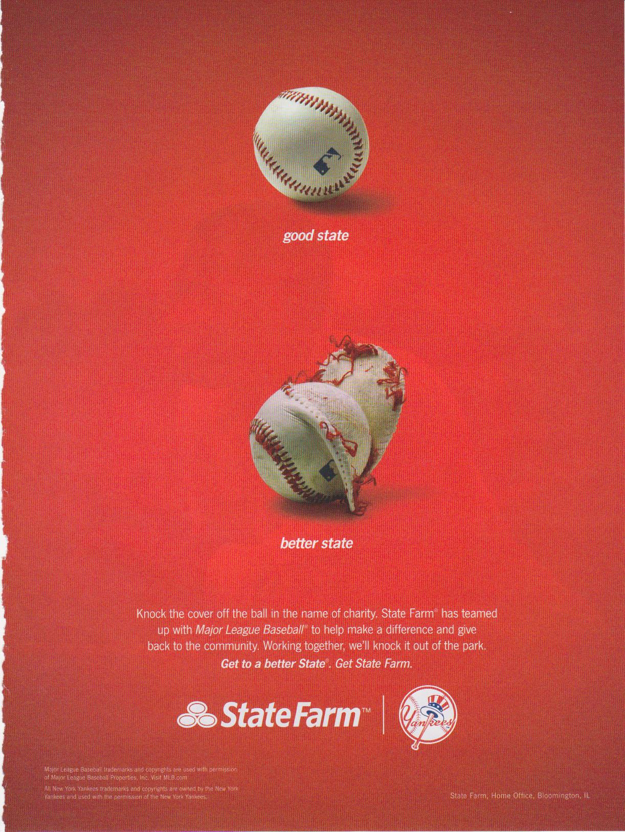 baseballs in advertising the