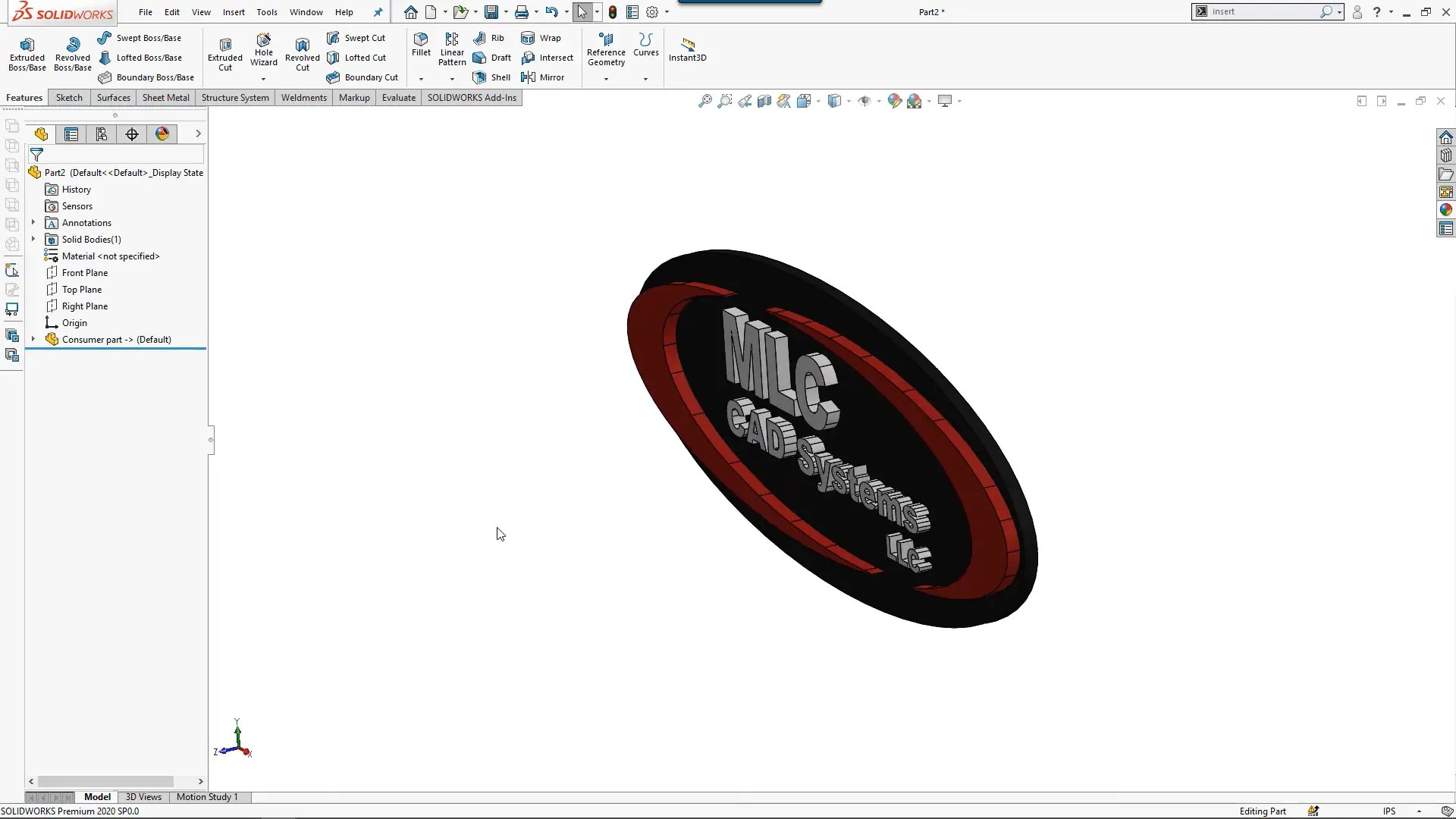 Create Multi-Body Part Mold Tools in SOLIDWORKS
