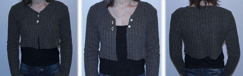 Un pull devenu une petite veste