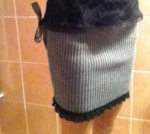 Une jupe d'hiver