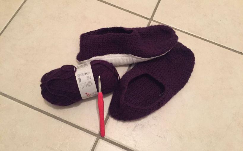 Mes chaussons au crochet