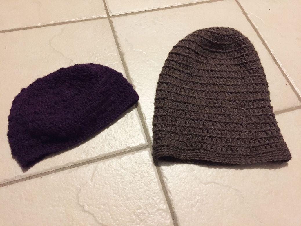 Bonnets au crochet