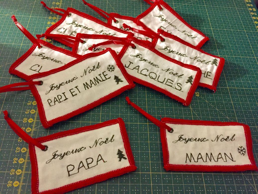 Des étiquettes pour mes cadeaux de Noël