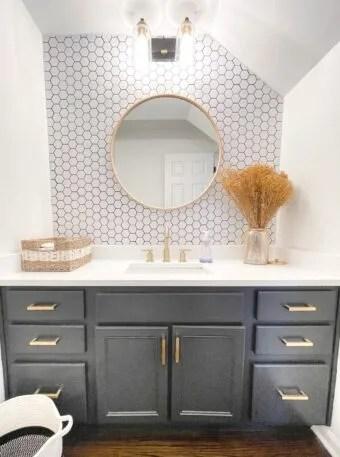 diy mid century modern bathroom remodel