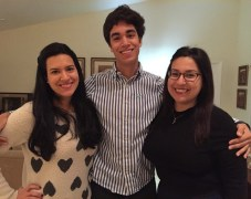 Michelle, on the right, with her siblings Daniela and Ricardo