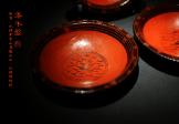 鸟纹漆木盘