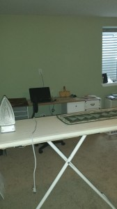 Desk corner and Ironing in the office
