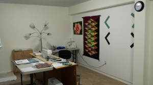 Design Board next to sewing station