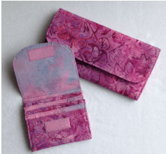 The Organized Wallet  SEW-101 available at www.QuiltWoman.com