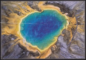 Aerial View Grand Prismatic Hot Springs