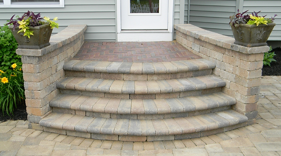 Many Styles Of Paver Steps Landscaping Outdoor Kitchens Outdoor | Paver Patio Steps Designs | Retaining Wall Pergola | Landscaping | Building | Easy Diy | Stair