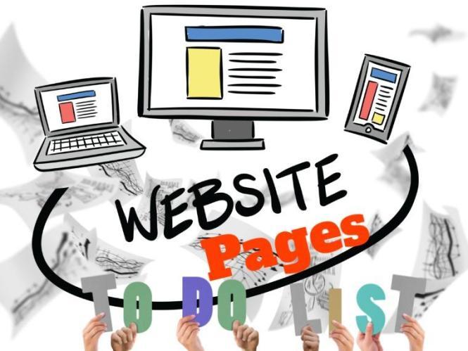Liste des pages du site