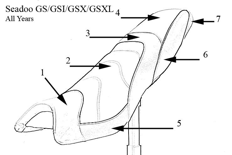 Seadoo GS/GSI/GSX/GSXL All Years Style B