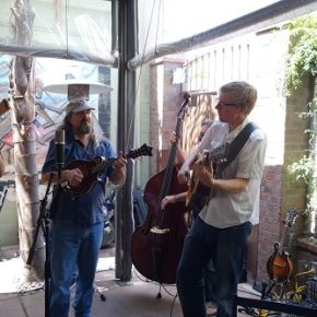Plow performing during brunch