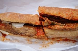 The best bread makes good eggplant sandwich