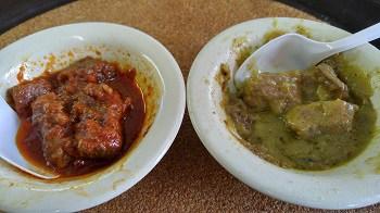 chile colorado and chile verde