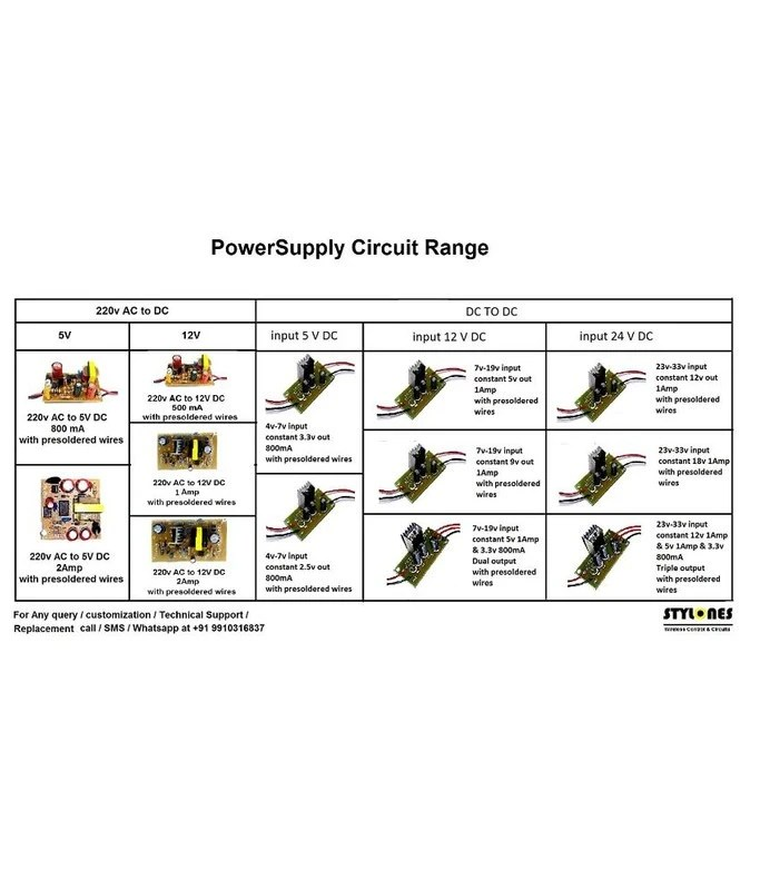 220V AC to 5V DC 2Amp Circuit Board SMPS Power Supply AC