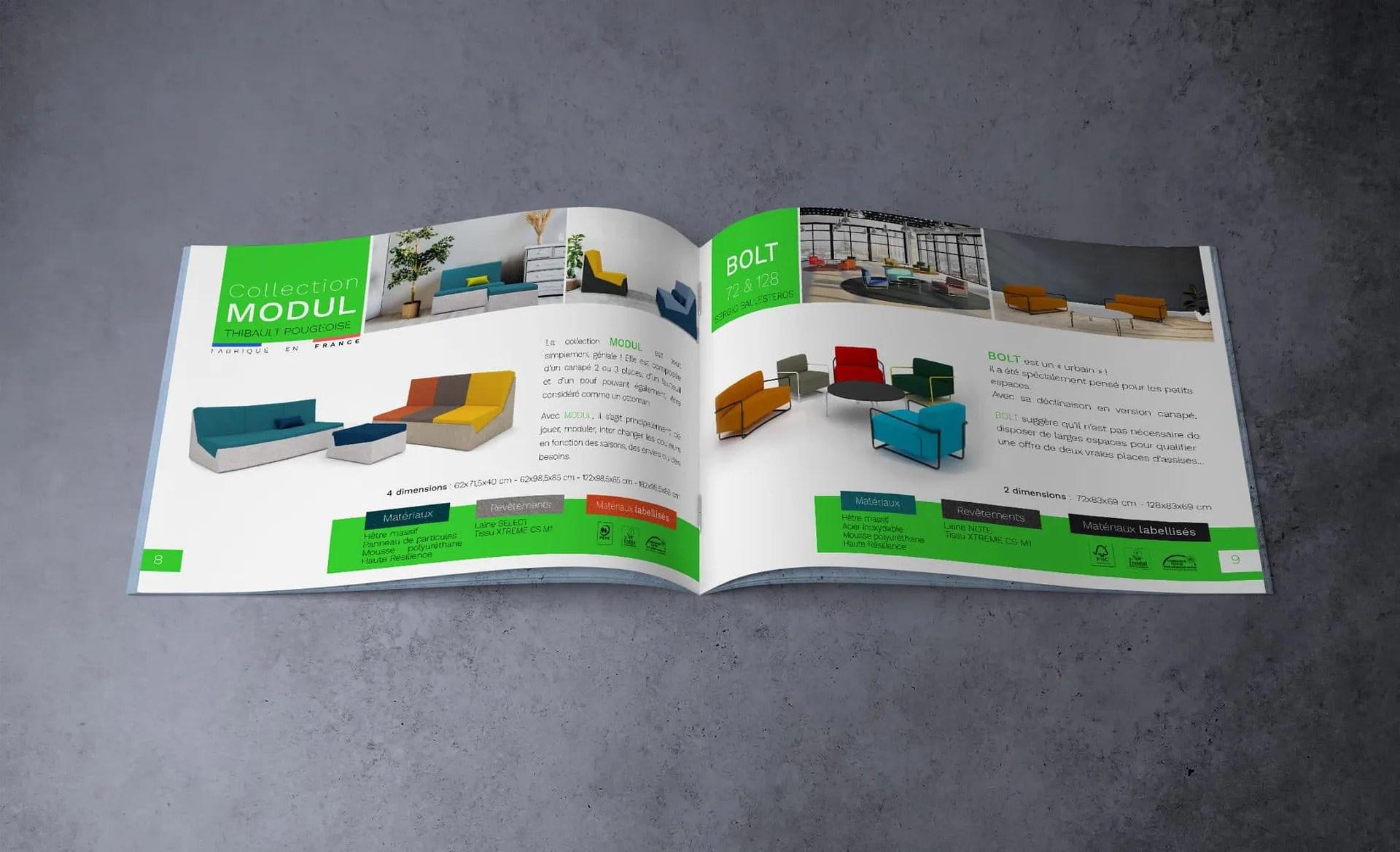 Agence graphics realise le graphisme du catalogue de meuble design et éco responsable de PIko edition