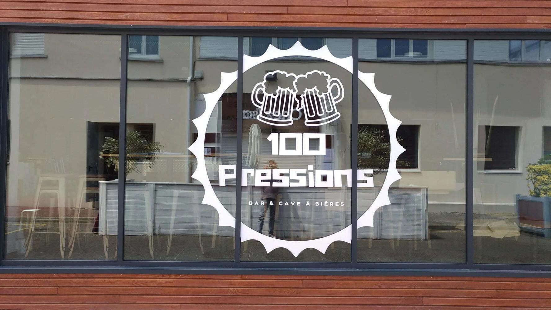 Logo 100 pression créé par Agence graphics
