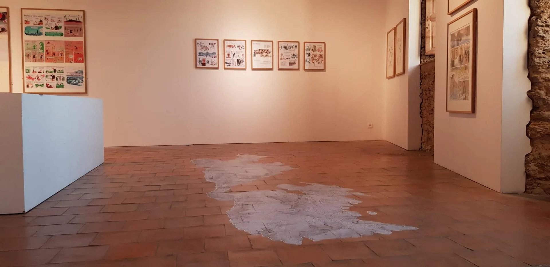 Impression et lamination spécial sol musée Mont-de-Marsan