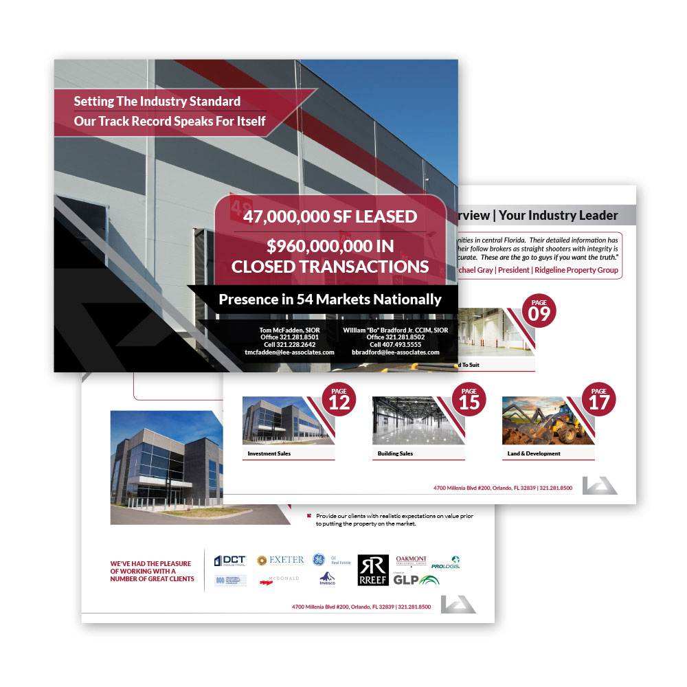 Commercial Real Estate Brochures – ML Jordan