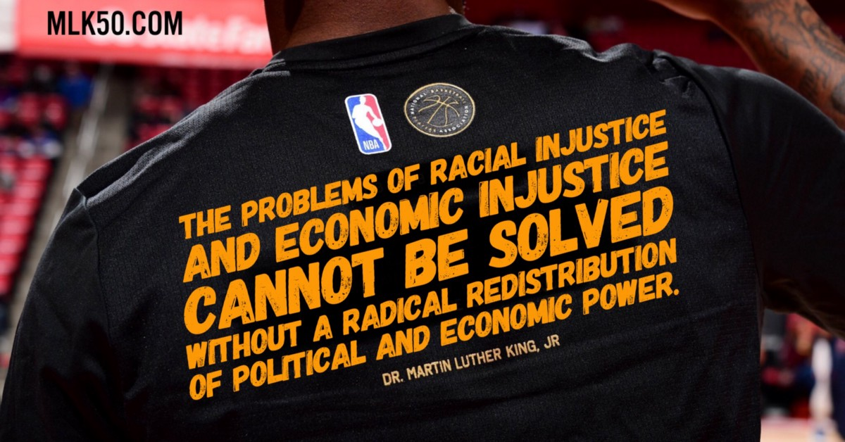 10 Mlk Quotes That Didn T Make The Nba S Mlk Day Shirts Mlk50 Justice Through Journalism