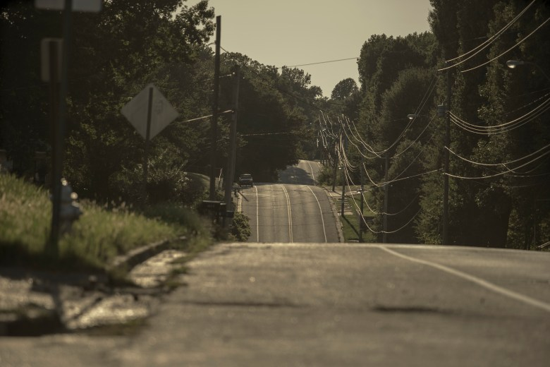 A view of Fields road in Southwest Memphis. The road runs through Boxtown where oil companies are wanting to put the Byhalia Pipeline.