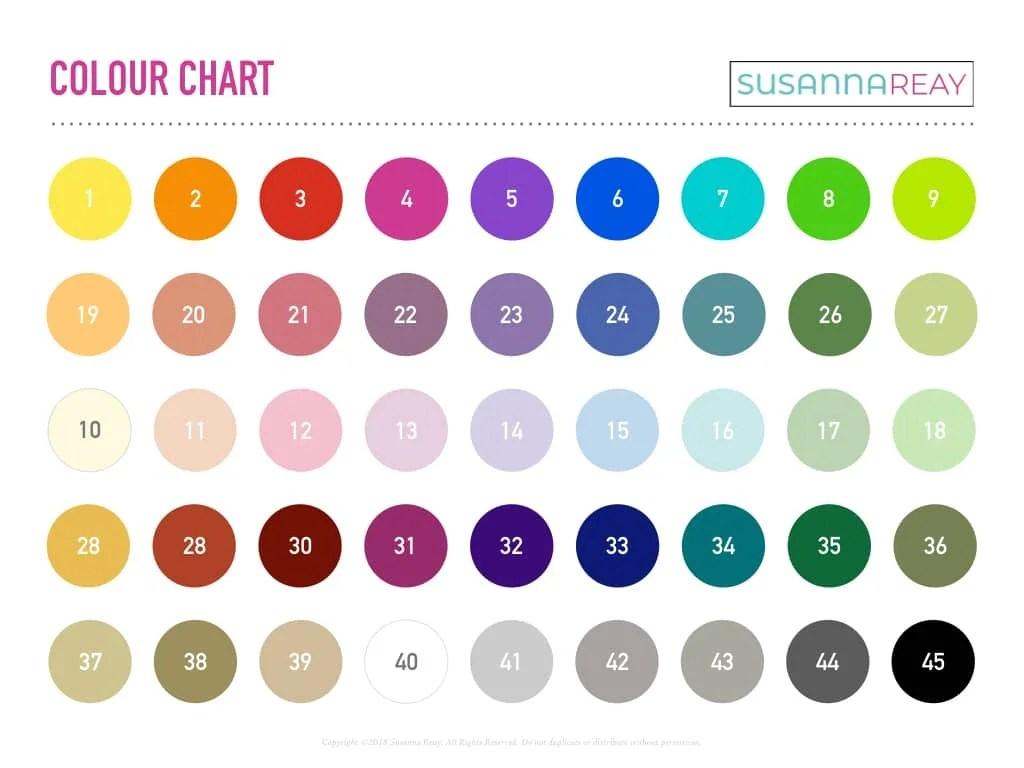 Colour My Week Worksheet Susanna Reay