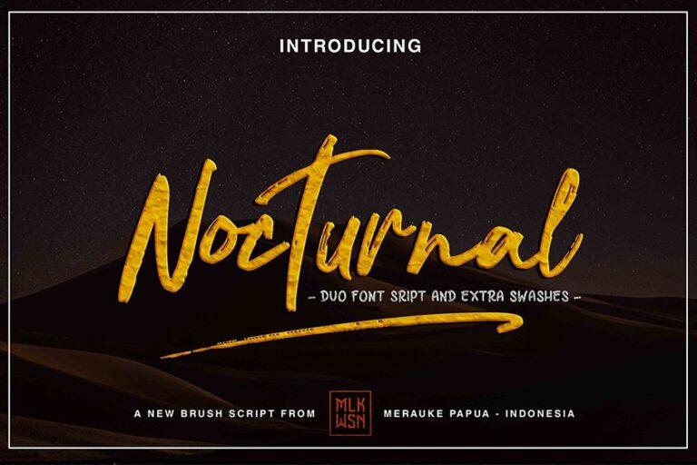 Nocturnal - Duo Font Script