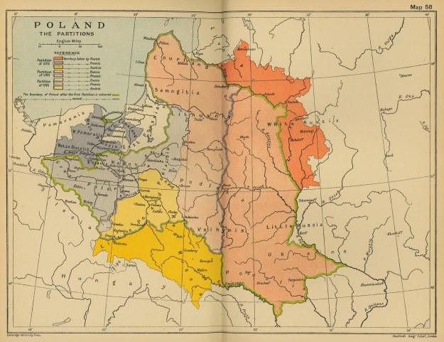 Poland Partitions 1700s