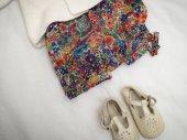 Bloomer, short, culotte bouffante 12 mois, tissu Liberty of London - MARGARET ANNE fuchsia