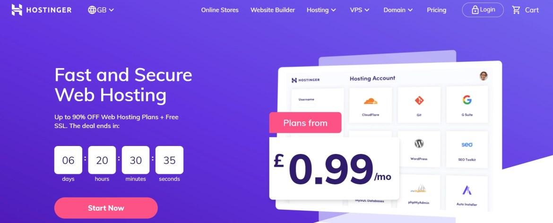 Get cheap UK web hosting from Hostinger.