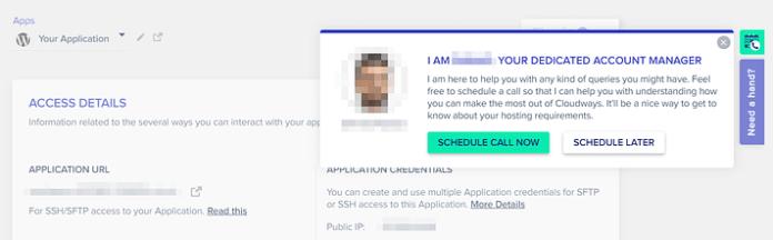 Pianificazione di una chiamata con il tuo account manager Cloudways.
