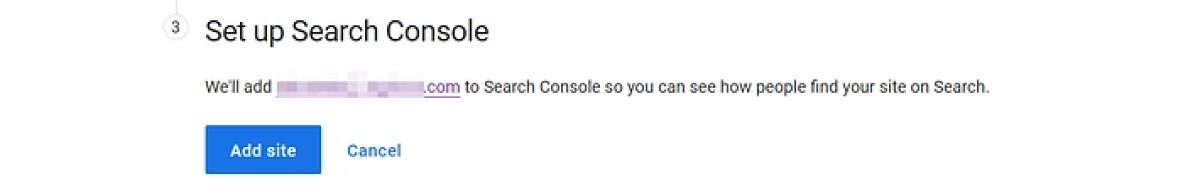 Setting up Search Console.