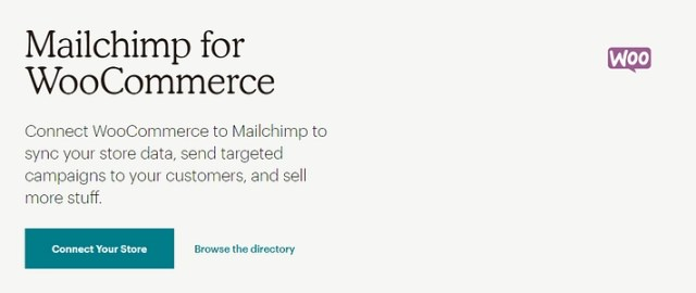 The MailChimp for WooCommerce plugin.
