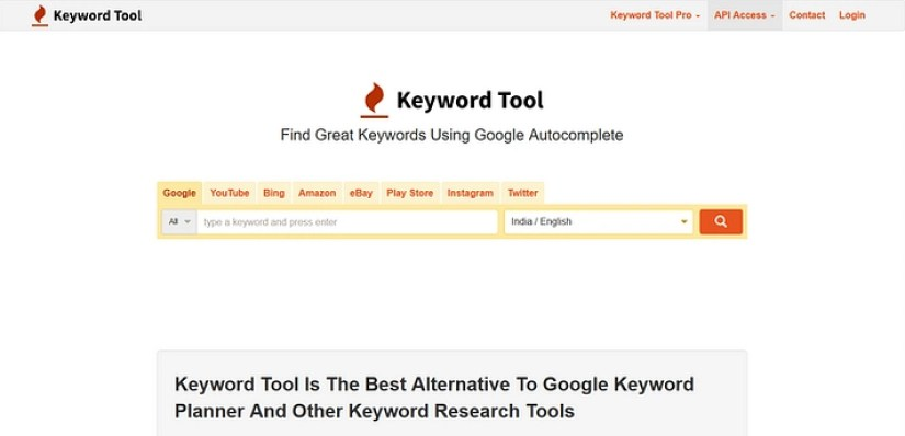 Keyword Tool for research