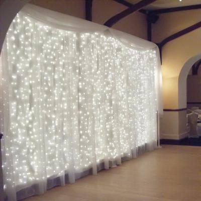 Luces Tipo Cortina Cascada De 1000 Leds10 X 3mts Blanca