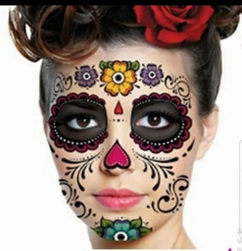 24 Tatuajes Catrina Halloween Muertos Hombre Mujer Mayoreo En Venta