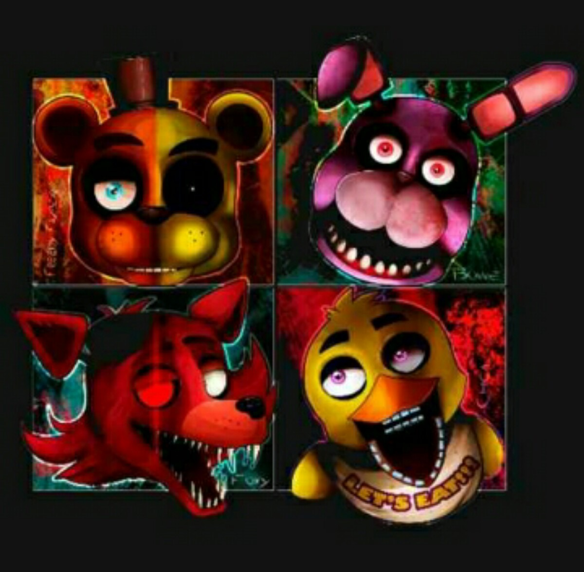 Five Nights At Freddys Set 6 Personajes 18900 En