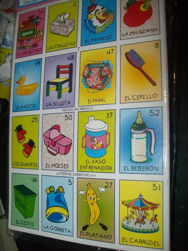 20 Baby Shower Loteria Mexican Bingo Pictures And Ideas On Meta