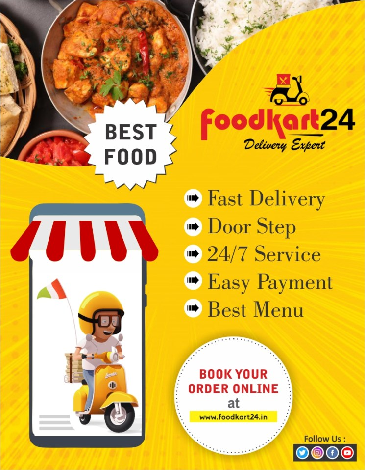 foodkart24 delivery ad