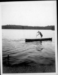 Alister MacKenzie in canoe