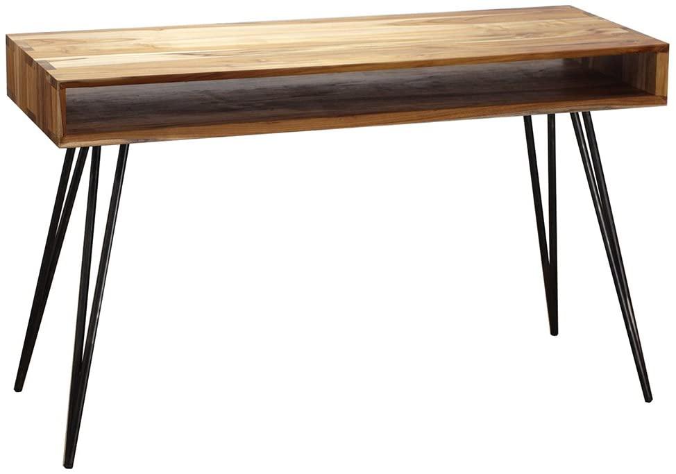 Meja Belajar Wooden Corner Scandinavian Desk